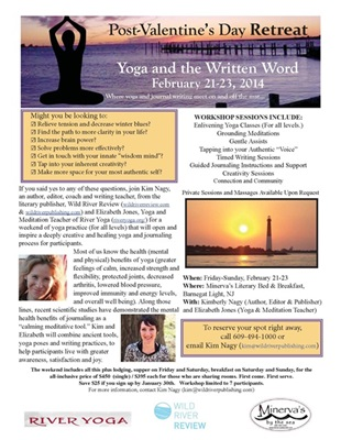 Kim Nagy, editor of Wild River Review, and yoga magic-maker Elizabeth Jones teamed up for this weekend of Writing-and-Yoga!